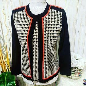 Ming Wang 2 pc Set Jacket and Tank Size XS
